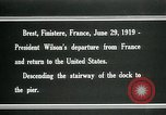 Image of Thomas Woodrow Wilson Brest France, 1936, second 5 stock footage video 65675067918
