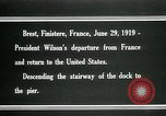 Image of Thomas Woodrow Wilson Brest France, 1936, second 9 stock footage video 65675067918