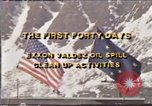 Image of Exxon Valdez oil spill Valdez Alaska USA, 1989, second 9 stock footage video 65675067937