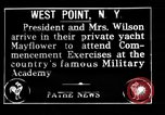 Image of Thomas Woodrow Wilson West Point New York USA, 1916, second 1 stock footage video 65675067973