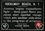 Image of first transatlantic flight New York United States USA, 1919, second 2 stock footage video 65675068002
