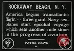 Image of first transatlantic flight New York United States USA, 1919, second 3 stock footage video 65675068002