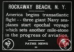 Image of first transatlantic flight New York United States USA, 1919, second 8 stock footage video 65675068002