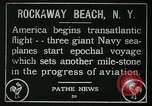 Image of first transatlantic flight New York United States USA, 1919, second 10 stock footage video 65675068002