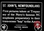 Image of first transatlantic flight Newfoundland, 1919, second 1 stock footage video 65675068003