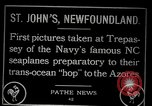 Image of first transatlantic flight Newfoundland, 1919, second 3 stock footage video 65675068003