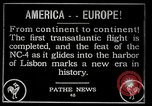 Image of first transatlantic flight Lisbon Portugal, 1919, second 1 stock footage video 65675068006