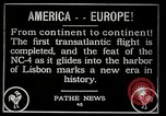 Image of first transatlantic flight Lisbon Portugal, 1919, second 3 stock footage video 65675068006