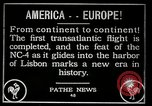 Image of first transatlantic flight Lisbon Portugal, 1919, second 5 stock footage video 65675068006