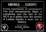 Image of first transatlantic flight Lisbon Portugal, 1919, second 6 stock footage video 65675068006