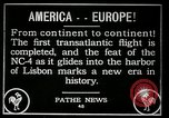 Image of first transatlantic flight Lisbon Portugal, 1919, second 8 stock footage video 65675068006