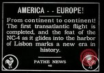 Image of first transatlantic flight Lisbon Portugal, 1919, second 10 stock footage video 65675068006