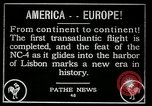 Image of first transatlantic flight Lisbon Portugal, 1919, second 11 stock footage video 65675068006