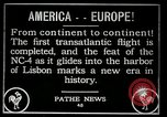 Image of first transatlantic flight Lisbon Portugal, 1919, second 12 stock footage video 65675068006