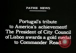 Image of first transatlantic flight Lisbon Portugal, 1919, second 4 stock footage video 65675068007