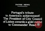 Image of first transatlantic flight Lisbon Portugal, 1919, second 6 stock footage video 65675068007