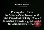 Image of first transatlantic flight Lisbon Portugal, 1919, second 7 stock footage video 65675068007