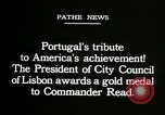 Image of first transatlantic flight Lisbon Portugal, 1919, second 8 stock footage video 65675068007