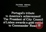 Image of first transatlantic flight Lisbon Portugal, 1919, second 10 stock footage video 65675068007