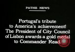 Image of first transatlantic flight Lisbon Portugal, 1919, second 12 stock footage video 65675068007