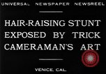 Image of trick photography Venice Beach Los Angeles California USA, 1930, second 3 stock footage video 65675068045