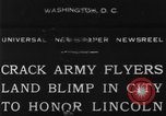 Image of Army aviators land blimp at Lincoln Memorial Washington DC, 1930, second 3 stock footage video 65675068048