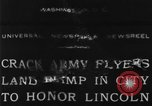 Image of Army aviators land blimp at Lincoln Memorial Washington DC, 1930, second 4 stock footage video 65675068048