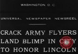 Image of Army aviators land blimp at Lincoln Memorial Washington DC, 1930, second 9 stock footage video 65675068048