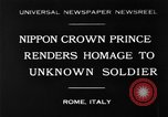Image of delegates honor soldiers Rome Italy, 1930, second 1 stock footage video 65675068051