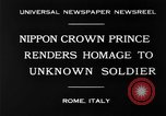 Image of delegates honor soldiers Rome Italy, 1930, second 2 stock footage video 65675068051