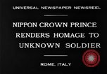 Image of delegates honor soldiers Rome Italy, 1930, second 3 stock footage video 65675068051
