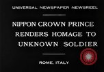 Image of delegates honor soldiers Rome Italy, 1930, second 5 stock footage video 65675068051