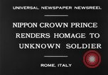 Image of delegates honor soldiers Rome Italy, 1930, second 7 stock footage video 65675068051
