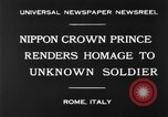 Image of delegates honor soldiers Rome Italy, 1930, second 9 stock footage video 65675068051