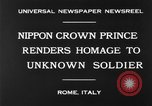 Image of delegates honor soldiers Rome Italy, 1930, second 10 stock footage video 65675068051
