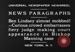 Image of Benjamin Barr Lindsey New York United States USA, 1930, second 12 stock footage video 65675068052