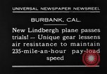 Image of new biplane Burbank California USA, 1930, second 6 stock footage video 65675068055