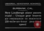 Image of new biplane Burbank California USA, 1930, second 9 stock footage video 65675068055
