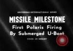 Image of Polaris missile Cape Canaveral Florida USA, 1960, second 1 stock footage video 65675068119