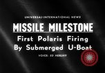 Image of Polaris missile Cape Canaveral Florida USA, 1960, second 2 stock footage video 65675068119