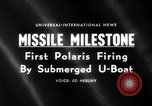 Image of Polaris missile Cape Canaveral Florida USA, 1960, second 3 stock footage video 65675068119