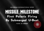 Image of Polaris missile Cape Canaveral Florida USA, 1960, second 4 stock footage video 65675068119