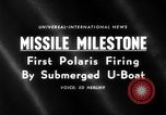Image of Polaris missile Cape Canaveral Florida USA, 1960, second 5 stock footage video 65675068119