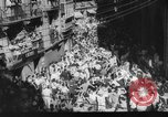 Image of Running of the Bulls Pamplona Spain, 1960, second 6 stock footage video 65675068125