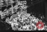 Image of Running of the Bulls Pamplona Spain, 1960, second 7 stock footage video 65675068125