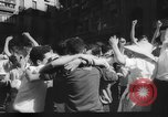 Image of Running of the Bulls Pamplona Spain, 1960, second 9 stock footage video 65675068125