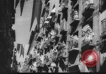 Image of Running of the Bulls Pamplona Spain, 1960, second 11 stock footage video 65675068125