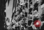 Image of Running of the Bulls Pamplona Spain, 1960, second 12 stock footage video 65675068125