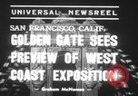 Image of Golden Gate International Exposition San Francisco Bay California USA, 1939, second 4 stock footage video 65675068183