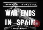 Image of end of Spanish civil war Madrid Spain, 1939, second 2 stock footage video 65675068189